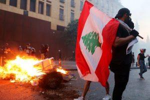 Libano - Beirut - porto - proteste